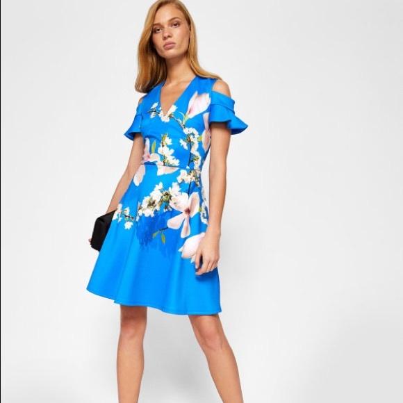 dda5d3970e340d Amber Harmony Cold Shoulder Dress. NWT. Ted Baker
